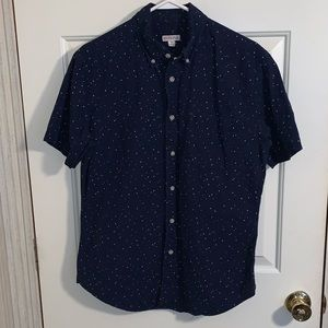 Navy and twilight pattern Button down